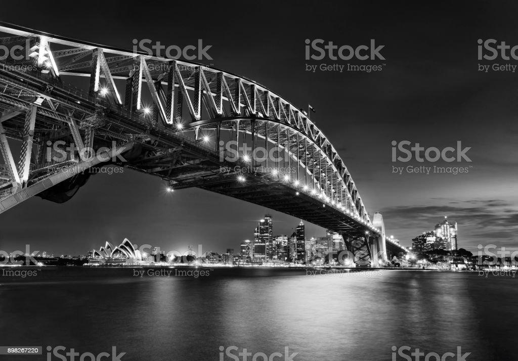 Sy Kirribilli Bridge Right Arch CBD stock photo