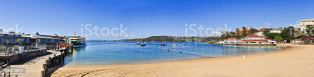 Sy Manly Beach Ferry Day Pan stock photo