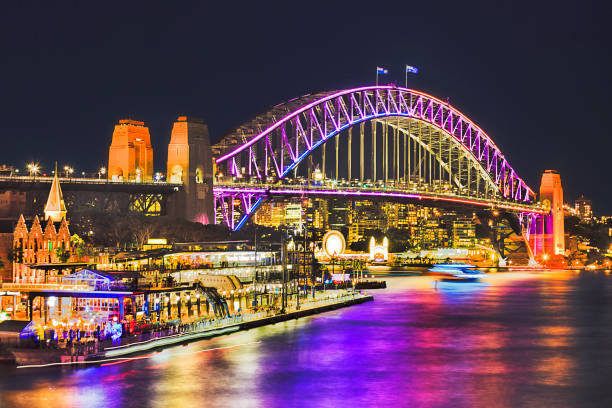 sy vivid 2016 br fr quay close - saturated color stock pictures, royalty-free photos & images