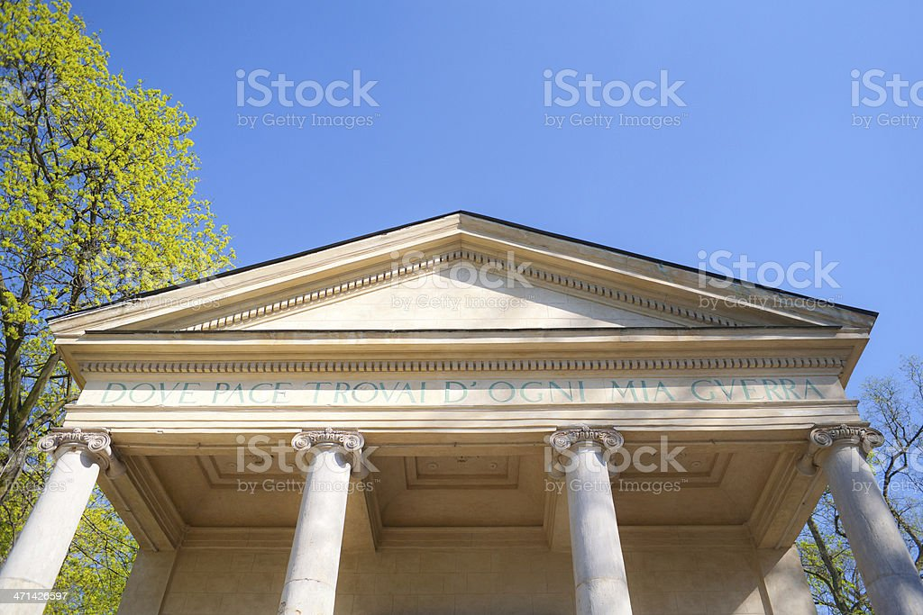 Sybilla temple pediment, royalty-free stock photo