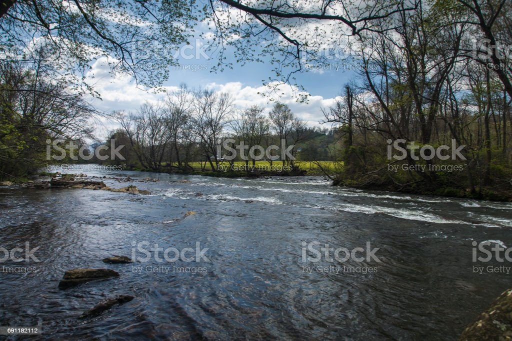Sycamore Shoals State Park, Elizabethton, Tennessee stock photo