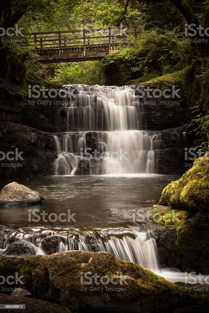 Sychryd Cascades stock photo