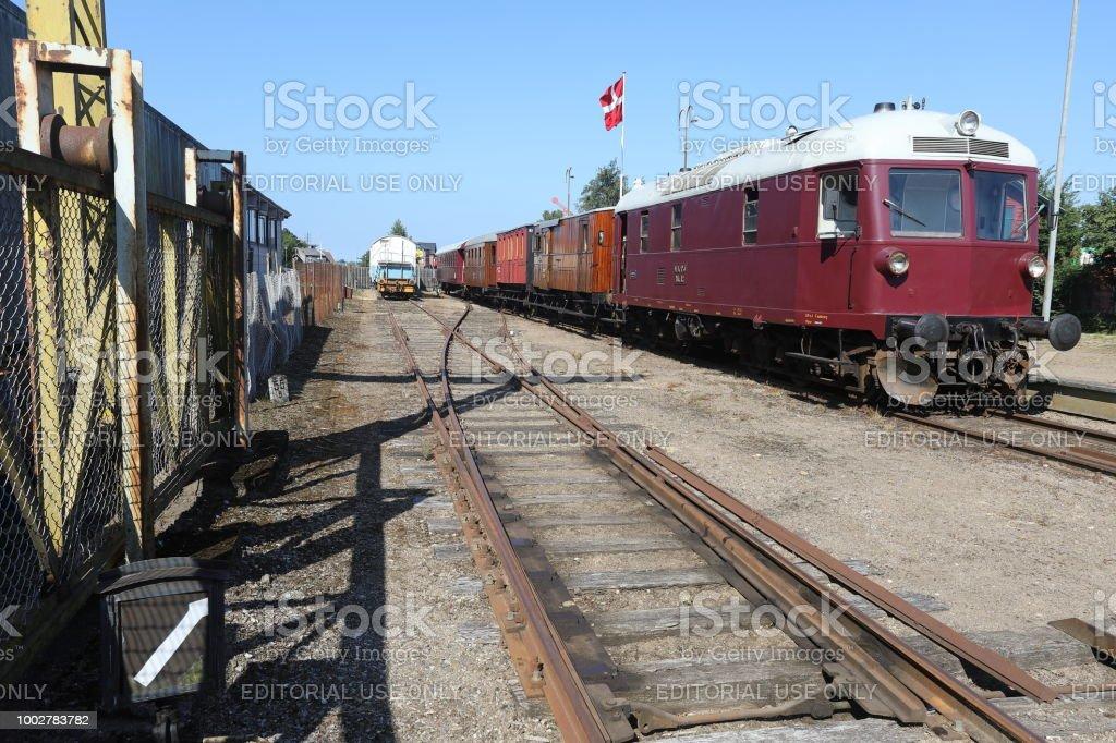 Syd Fyenske Veteranjernbane Veteran Railway in Denmark stock photo