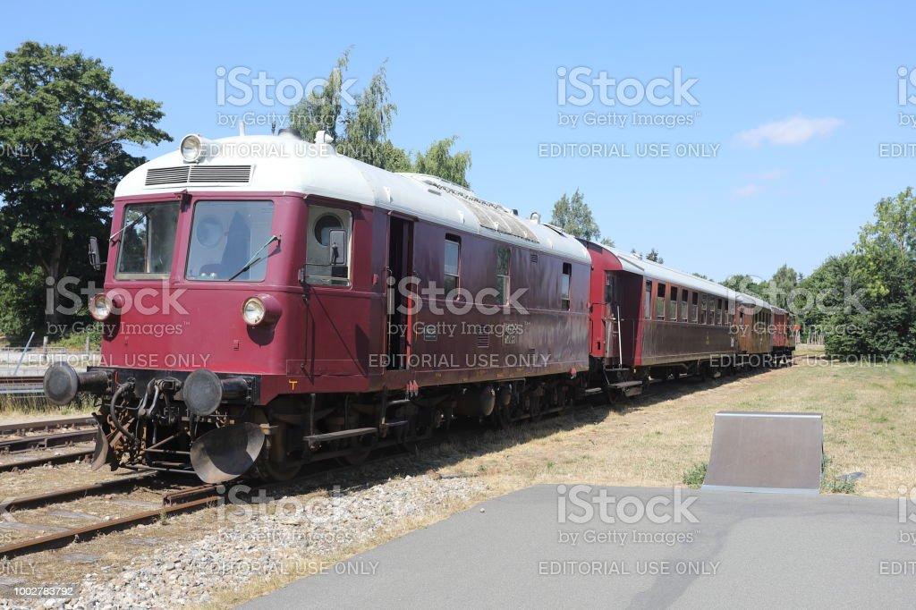 Syd Fyenske Veteranjernbane Veteran Railway in Denmark stock photo