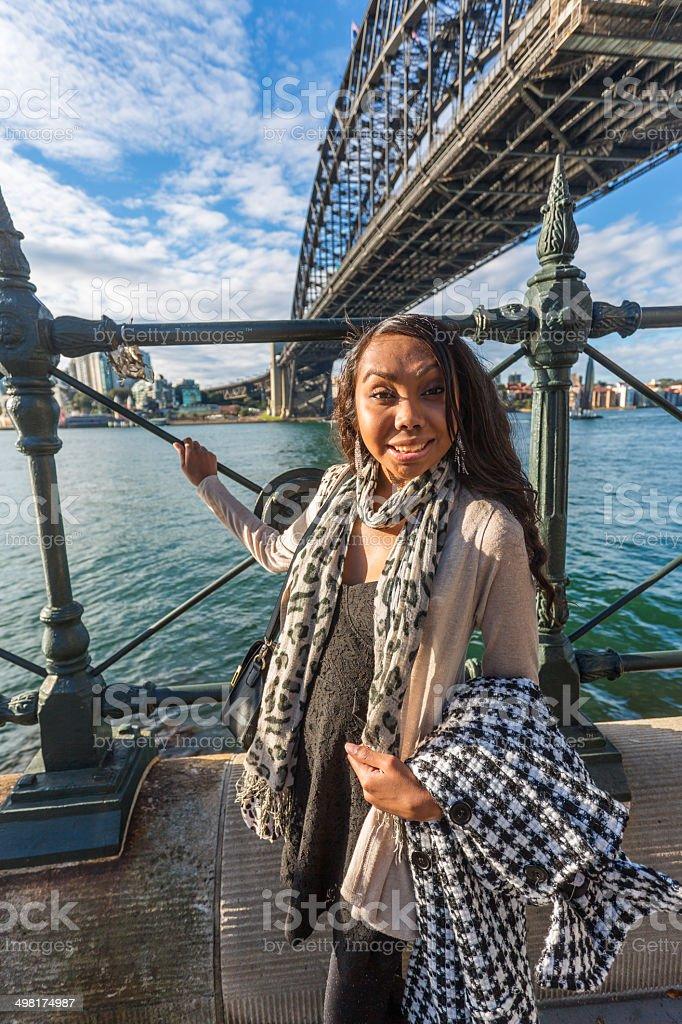 Sydney Aboriginal Woman royalty-free stock photo