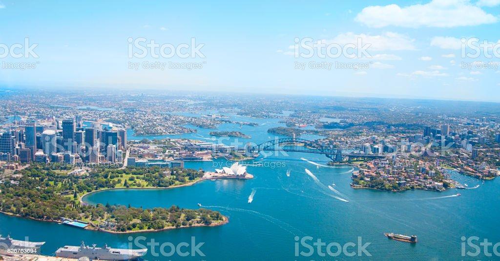 Sydney: aerial view stock photo