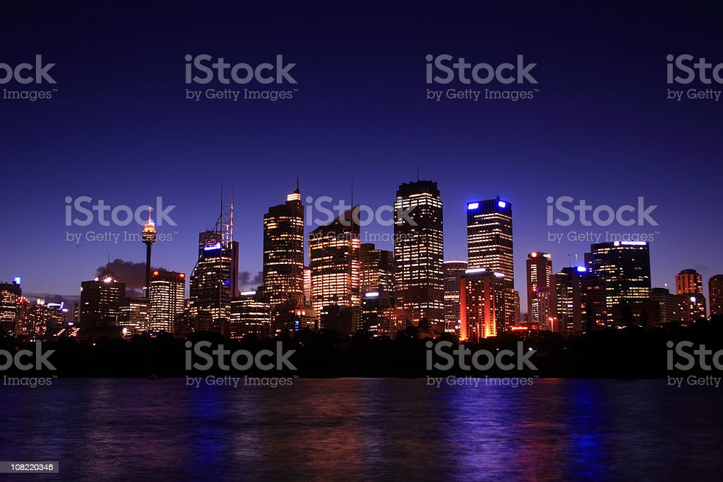 Sydney at Night royalty-free stock photo