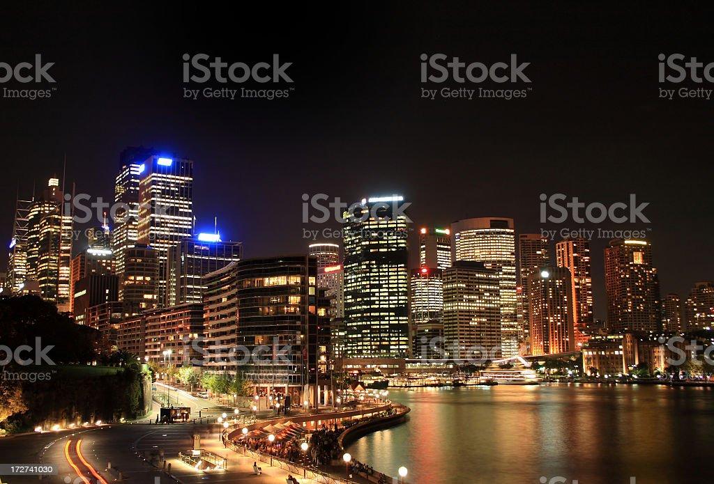 Sydney at Night royalty-free stock photo