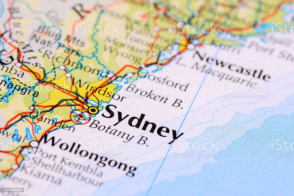 Sydney australia stock photo more pictures of 2015 istock map world map australia new south wales sydney gumiabroncs Gallery