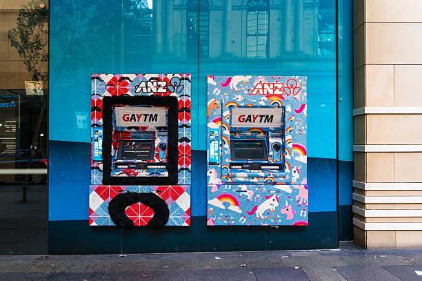ANZ GAY ATM, Sydney, Australia stock photo