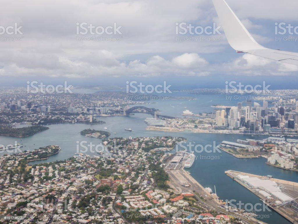Sydney by air stock photo