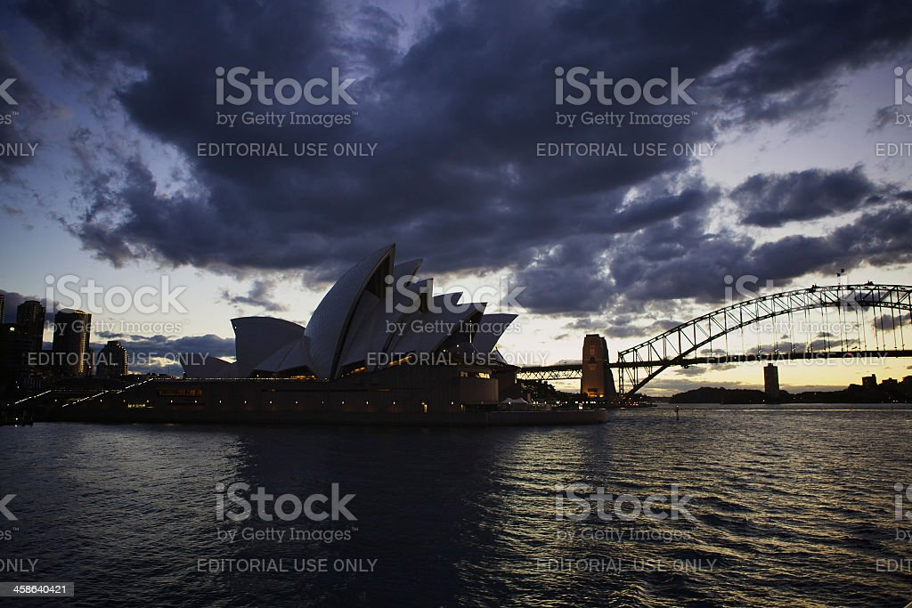 Sydney by night royalty-free stock photo