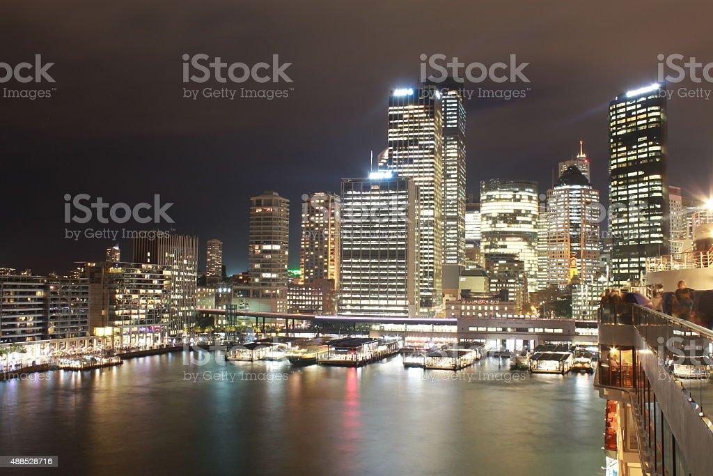 sydney by night stock photo
