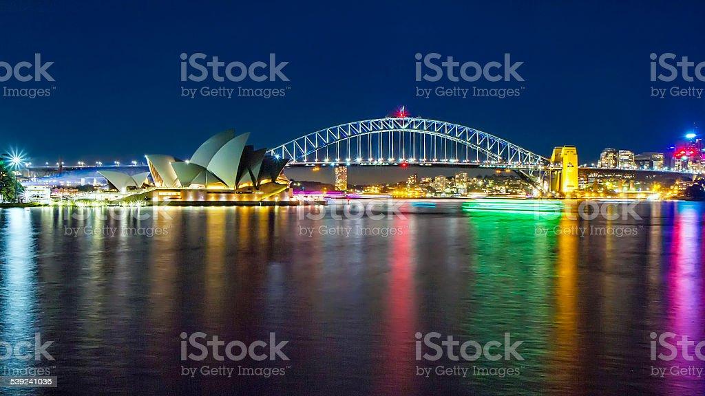 Sydney por noche foto de stock libre de derechos