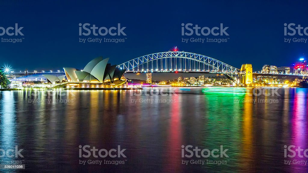 Sydney by night stock photo