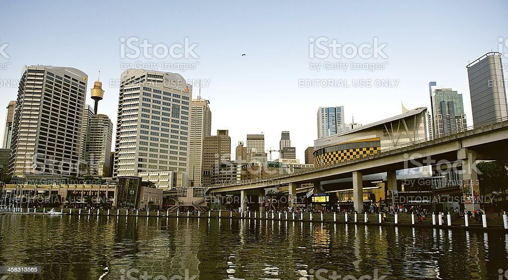 Sydney CBD and Darling Harbour at sunset. royalty-free stock photo