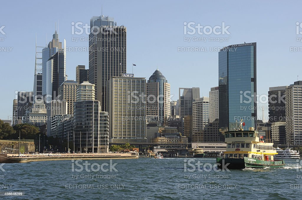 Sydney CBD and Ferry royalty-free stock photo