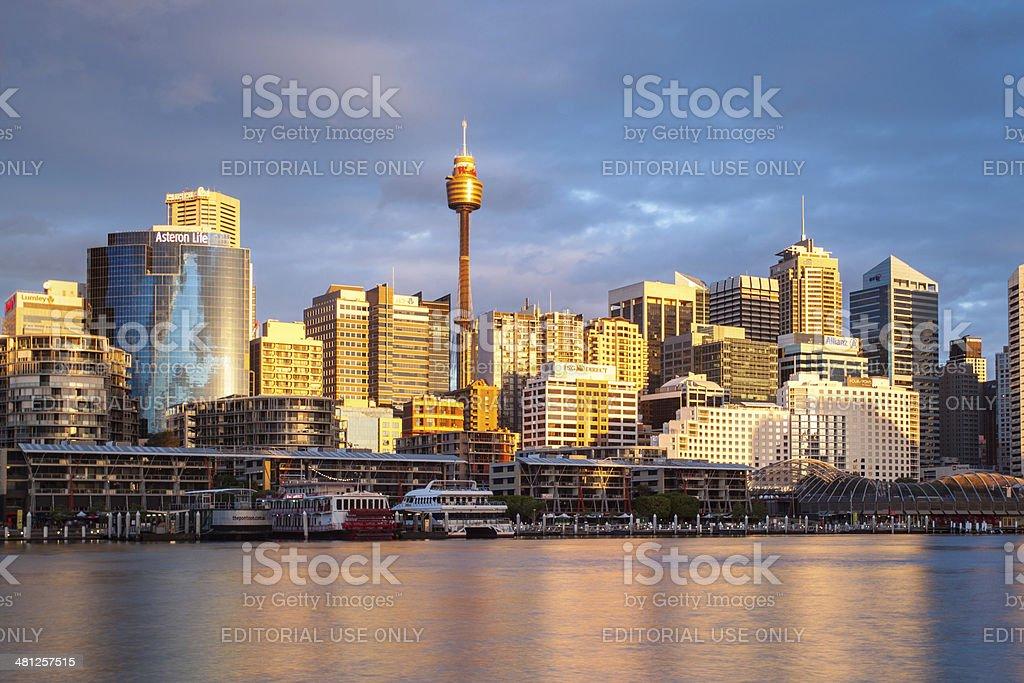 Sydney CBD at Dusk stock photo