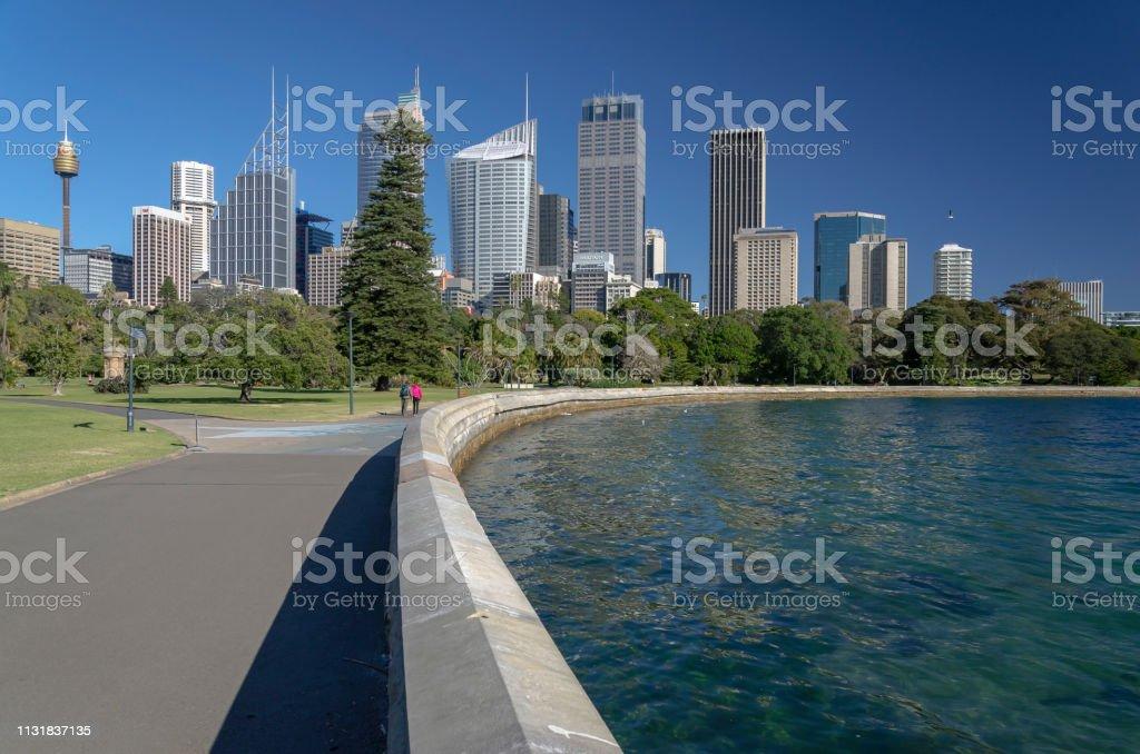 Sydney CBD und Royal Botanic Gardens foto