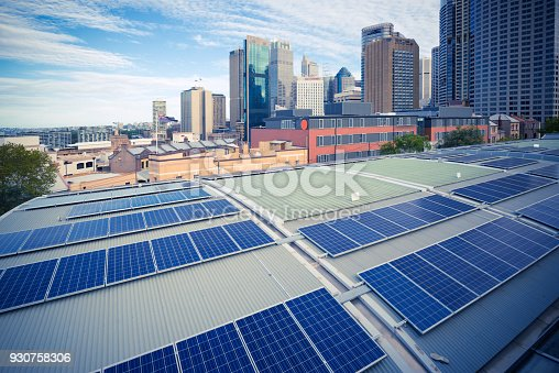 istock Sydney, City Architecture and Photovoltaic Panels 930758306