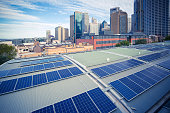 Sydney, Australia, City Skyline and Solar Panel Combination