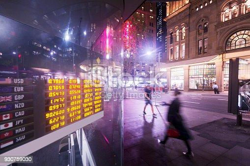 1044507110istockphoto Sydney City, bank's electronic display 930759030