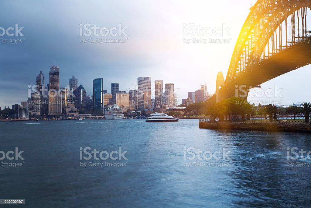 Sydney city, rain stock photo