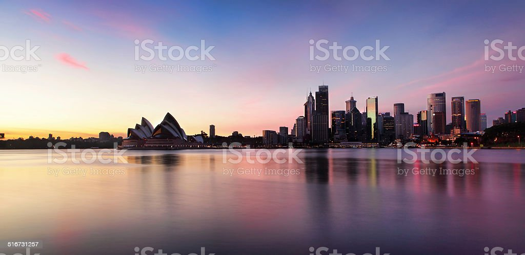 Sydney City  Skyline at sunrise stock photo
