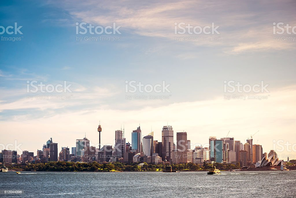 Sydney city skyline stock photo
