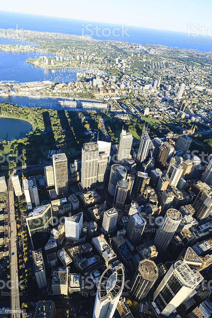 Sydney downtown - aerial view royalty-free stock photo