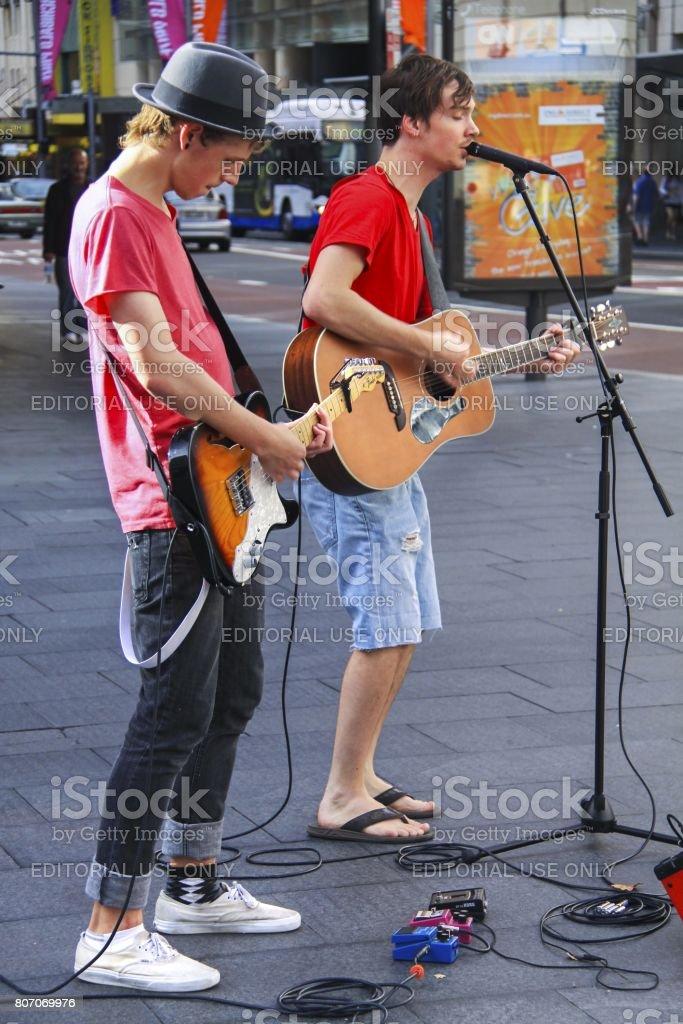 Sydney Downtown Rock Concert stock photo
