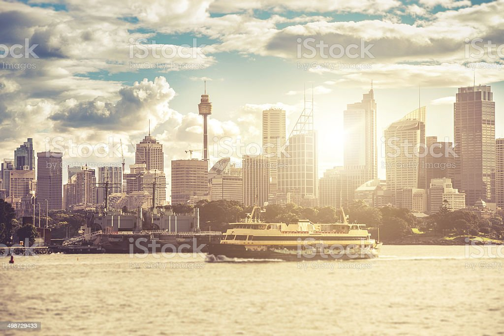 Sydney downtown skyline stock photo