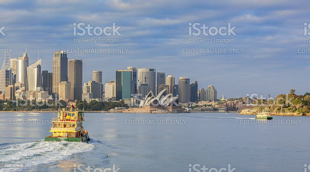 Sydney ferry departing Cremorne Point for Circular Quay stock photo