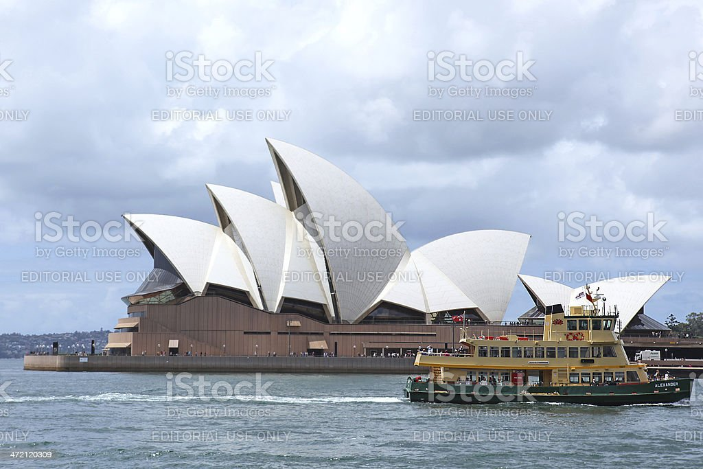 Sydney Ferry passing The Opera House royalty-free stock photo