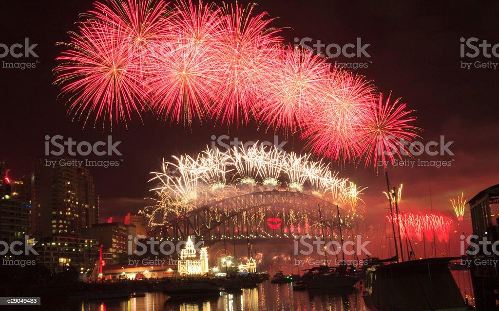 Sydney Firework stock photo