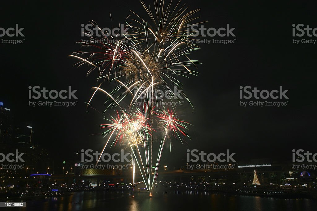 sydney fireworks royalty-free stock photo