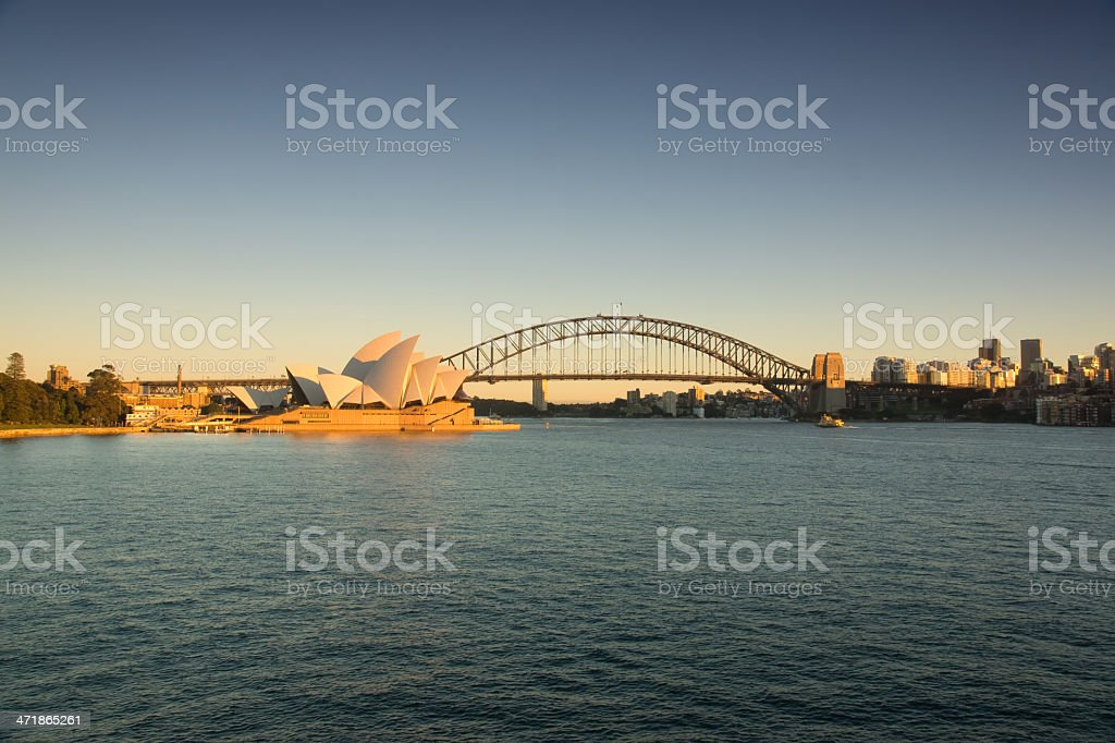 Sydney from Mrs Macquaries Point (Sunrise) stock photo