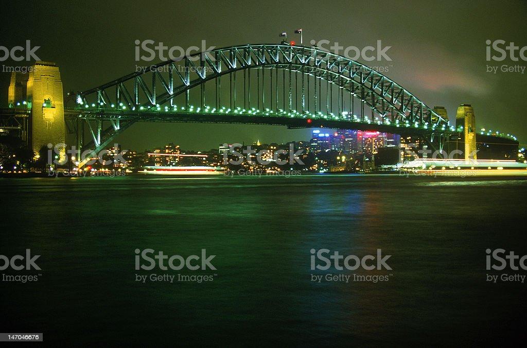 Sydney Harbor Bridge at Night stock photo
