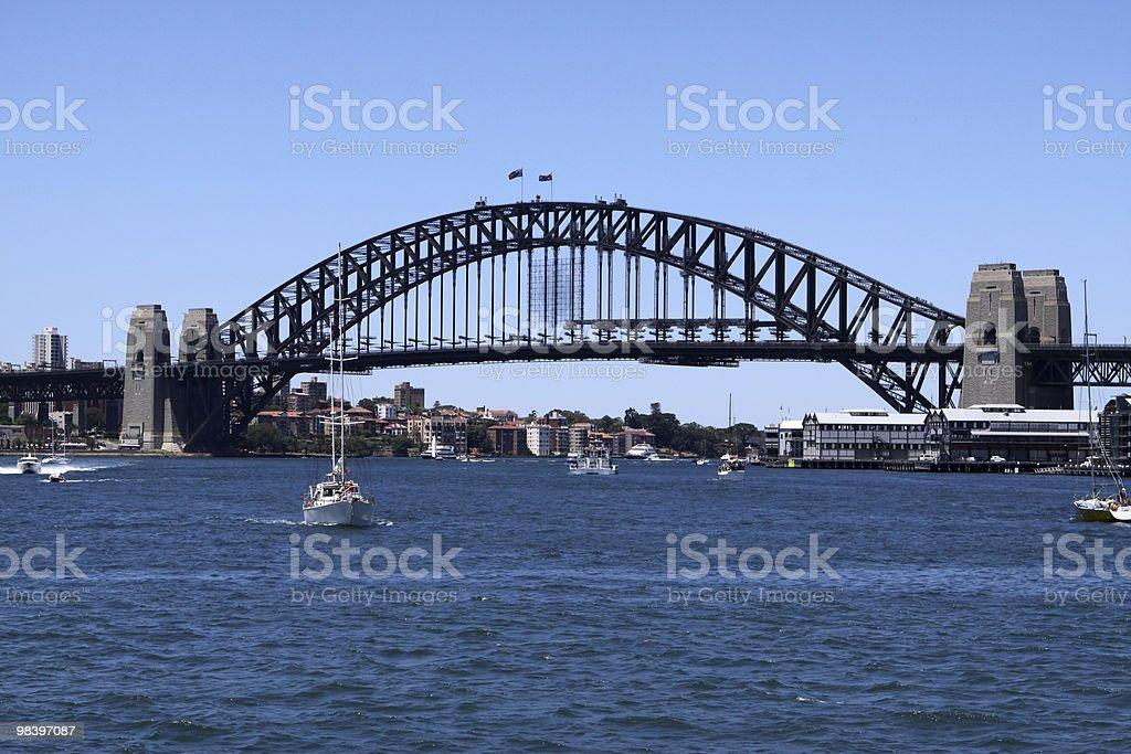 Ponte del porto di Sydney foto stock royalty-free