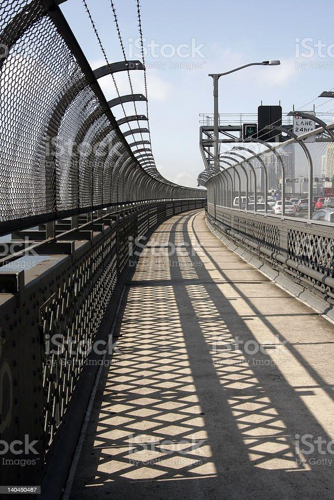 Sydney Harbor Bridge Walkway royalty-free stock photo