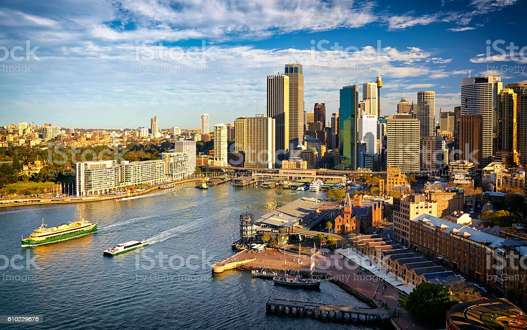 Sydney Harbour And Circular Quay In 2008 stock photo