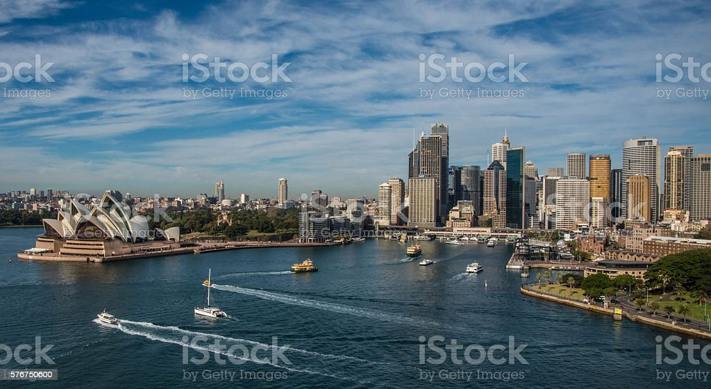 Sydney Harbour and Circular Quay stock photo