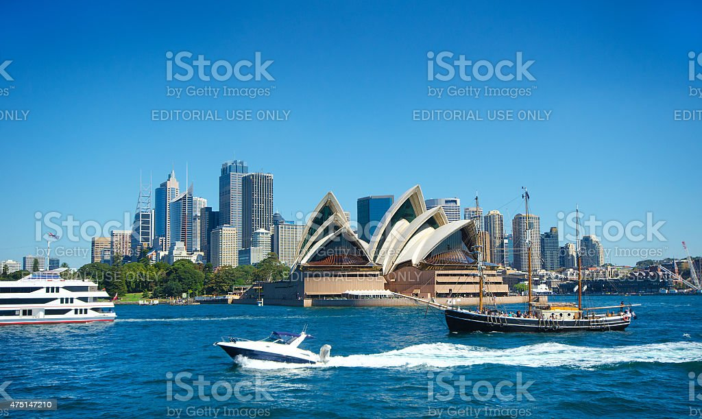 Sydney Harbour and Skyline stock photo