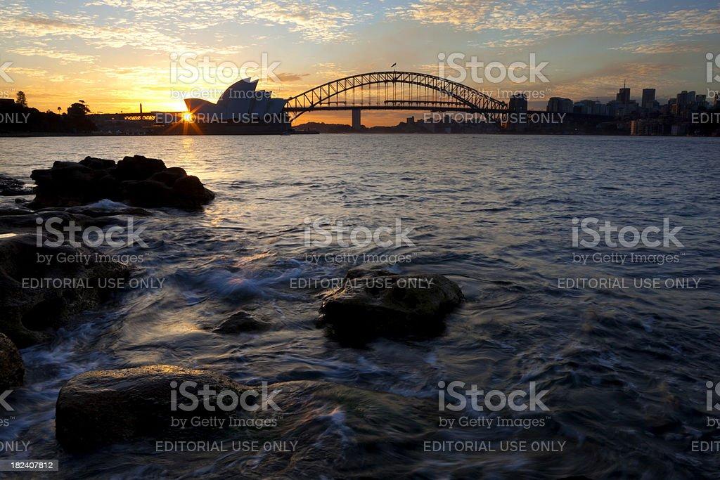 Sydney Harbour At Dusk royalty-free stock photo