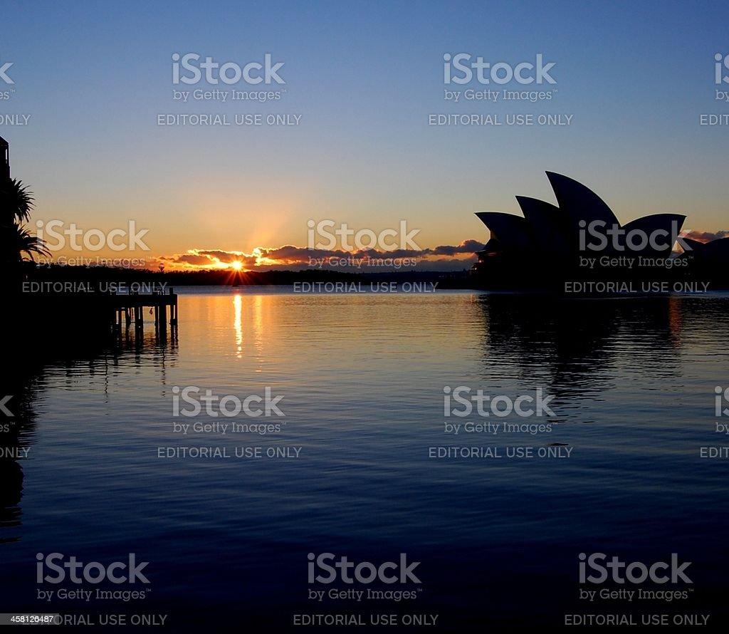 Sydney Harbour at Sunrise royalty-free stock photo