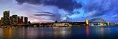 Sydney harbour bay panorama