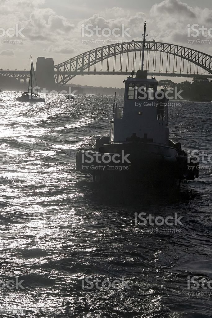Sydney Harbour boat royalty-free stock photo