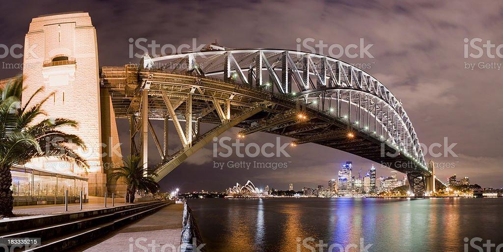 Sydney Harbour Bridge and City Skyline in Australia royalty-free stock photo