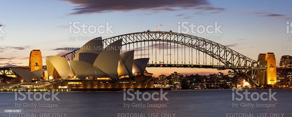 Sydney Harbour Bridge and Opera House royalty-free stock photo