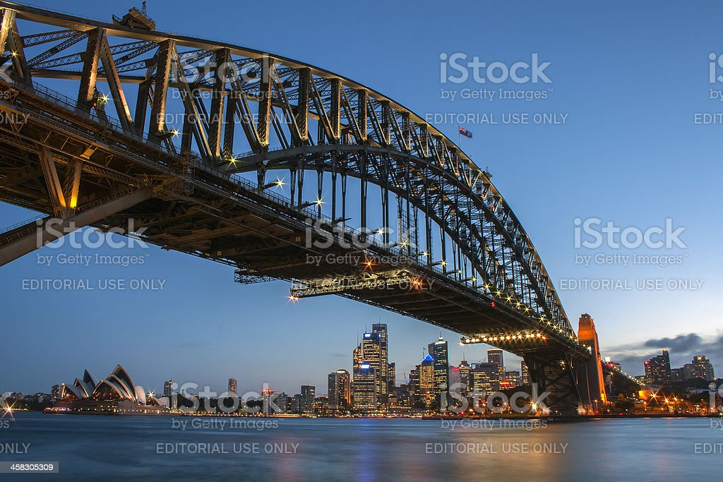 Sydney  Harbour Bridge and Skyline royalty-free stock photo